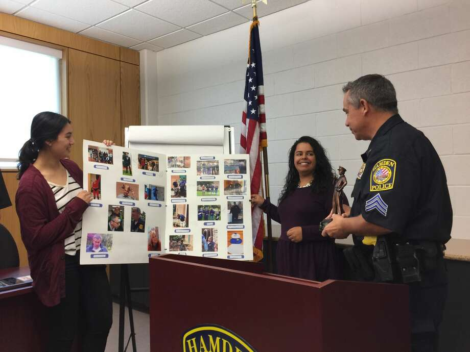 """Hamden police Sgt. John Testa was named """"Top Cop"""" by the Connecticut chapter of Mothers Against Drunk Driving Tuesday morning, May 15."""