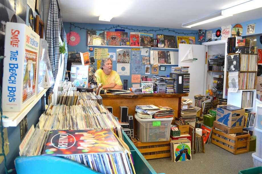 Doug Snyder at Replay Records in Hamden.