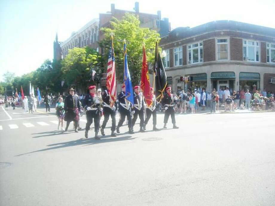 Photo by Colleen Redmond The Wallingford Memorial Day Parade makes its way down Main Street.