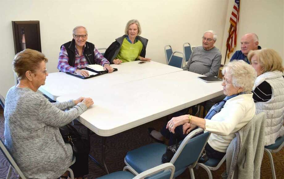 The German Conversation Club meets at North Haven Library.