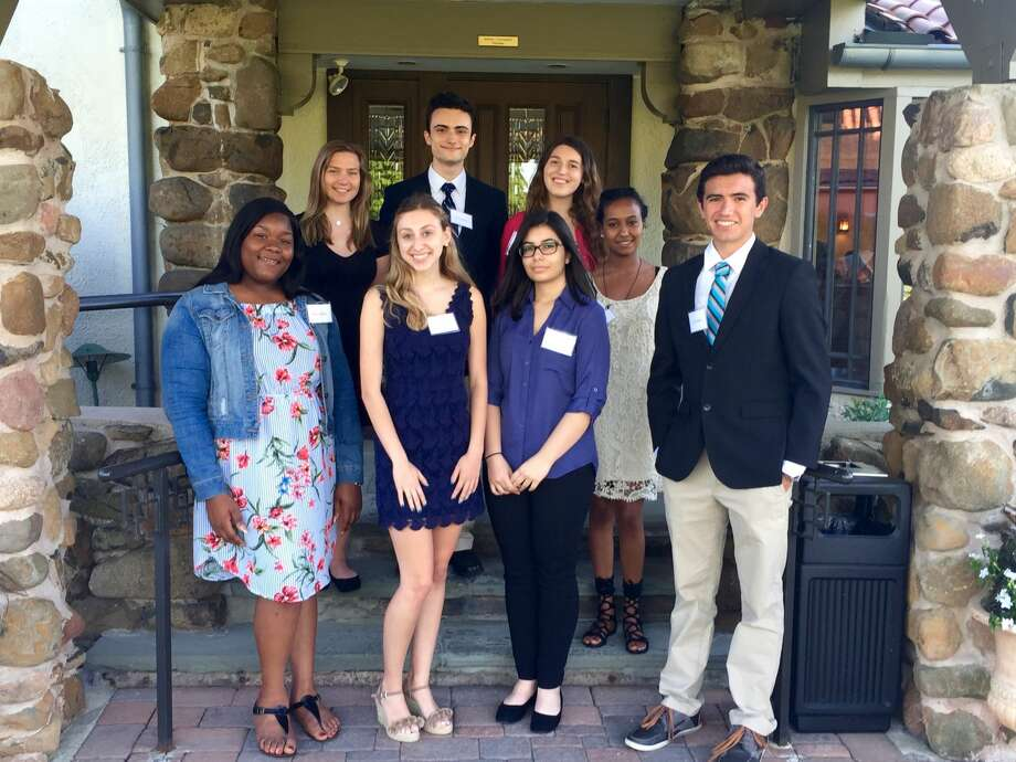 The Yale New Haven Hospital AuxiliaryScholars for 2018 include, back, from left: DominikaMichnik of Milford;Nicolas Jorden of Guilford; Alexandra Minutillo of Madison; and Lydia Ogbe of New Haven.Front, from left: Adiha Walton of New Haven; Mary Naccarato of Wallingford; Christa Nuzzo of East Haven; and Lorenzo Rappa of North Haven. Not pictured are Glenda Zuniga of Wallingford and Hager Elfhil of North Haven.