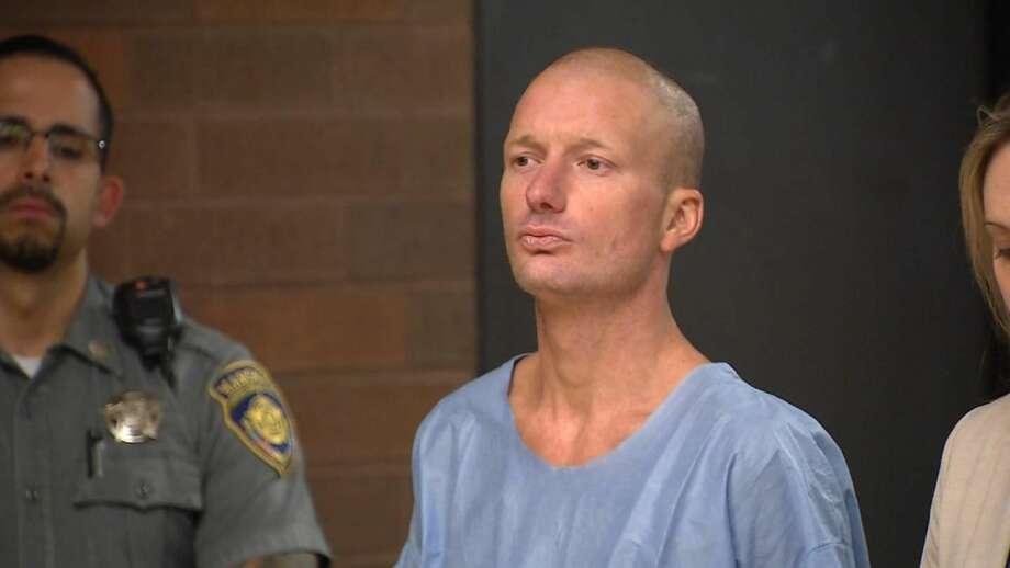 Kyle Tucker appears in Meriden court on June 11, 2018.