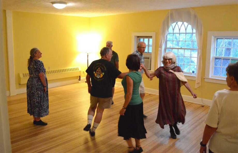 Members of the Royal Scottish Country Dance Society in Hamden.
