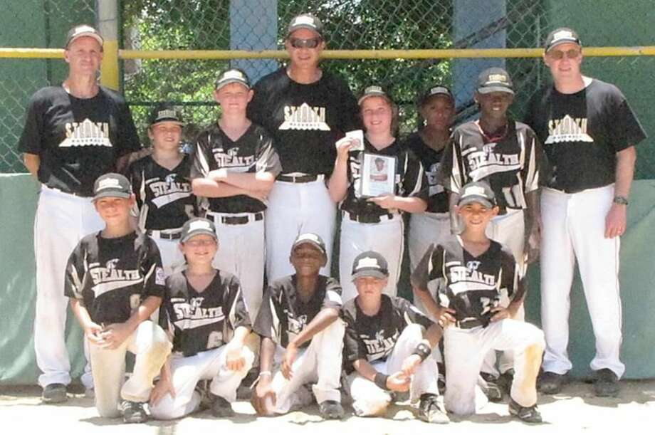 Submitted photo The Connecticut Stealth 10-year-old-and-under baseball team recently competed in the 2010 AABC World Series in Puerto Rico. Team members, from left to right, are (front row): Kyle Pavone, Luke Larkin, Shamar Jackson, Jay Brennan, Brendan Kirck; (back row): coach Bernie Brennan, C.J. Kuselias, Jack Nolan, coach Chris Kuselias, Nick Copenhaver, Tyler Osbourne, Tre Breland, and coach Mike Copenhaver.