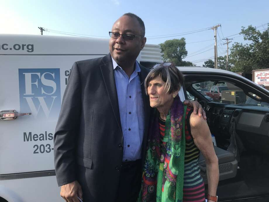 In an effort to fight for additional funds for Meals on Wheels, U.S. Rep. Rosa DeLauro, D-3, rode along with delivery workers Tuesday, Aug. 28 to highlight how flat federal funding has impacted local seniors.