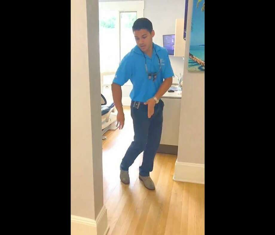 """Dr. Kevin D'Andrea, a Hamden native and dentist, has gone viral, as his video dancing to """"In My Feelings"""" by Drake has been viewed more than 5.7 million times since it was posted."""
