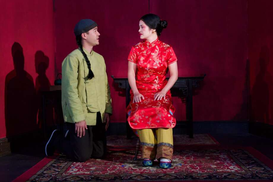 """Danniel K. Isaac and Shannon Tyo in """"The Chinese Lady."""""""