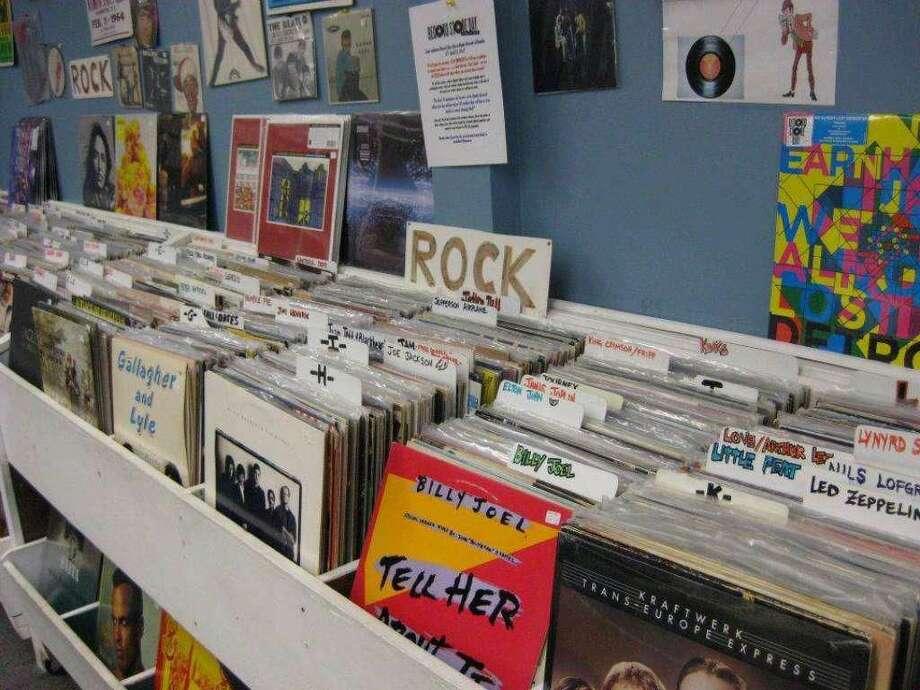 Vinyl records at Replay Records in Hamden