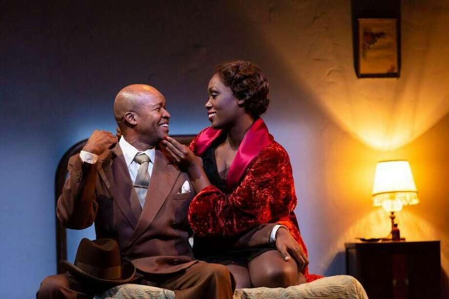 "Leon Addison Brown and Carolyn Michelle Smith in ""Paradise Blue."""