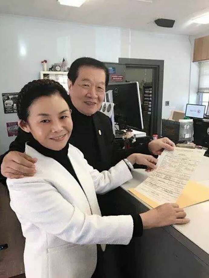 Dr. Henry C. Lee and his fiancée, Xiaping Jiang.