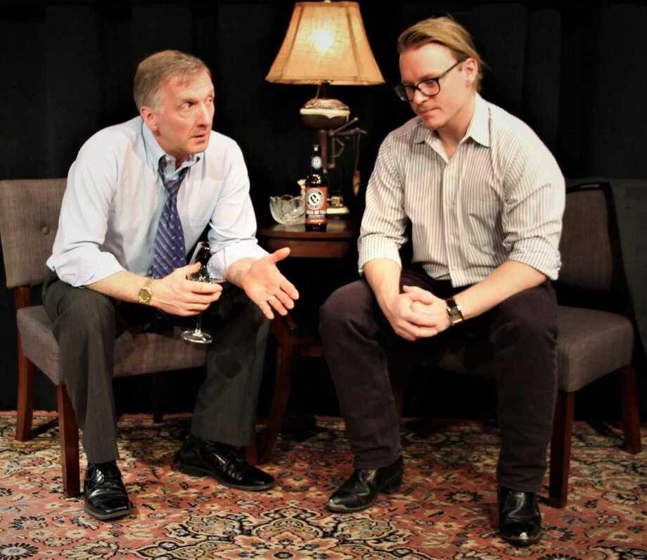"David Victor and Kiel Stango in ""The God Game."""