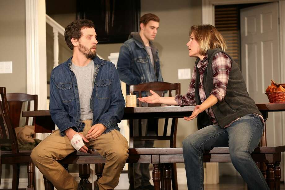 """Joby Earle, Andrew Veenstra, and Kelly McAndrew in """"Thousand Pines"""""""