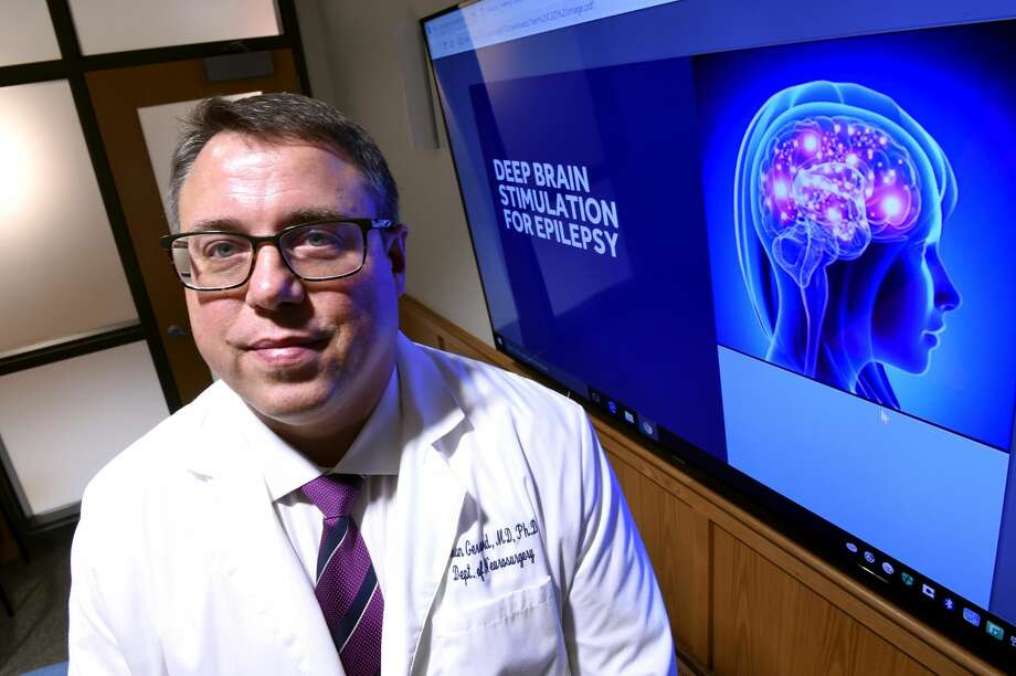 Dr. Jason Gerrard, director of stereotactic and functional neurology in the Yale School of Medicine, photographed on Nov. 26, will be using Medtronic's deep-brain stimulation therapy approved by the U.S. Food and Drug Administration at Yale Haven Haven Hospital.