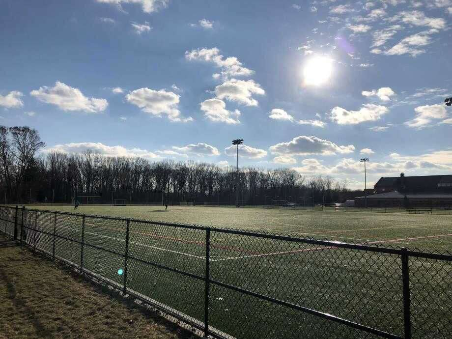 The turf fields at North Haven Middle School.