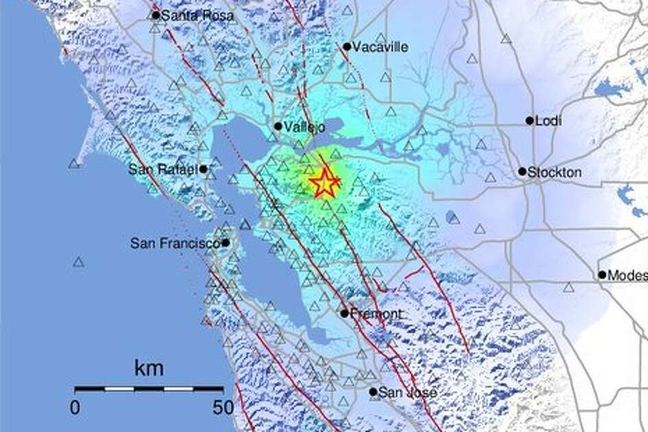 The 4.5 earthquake was felt throughout the Bay Area.