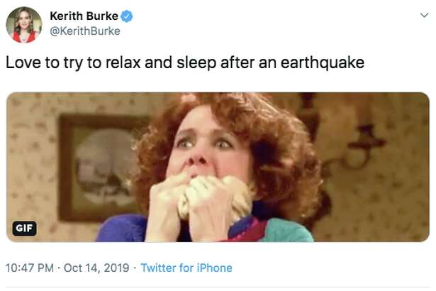 Bay Area Twitter reacts to the Monday night earthquake on October 14, 2019.