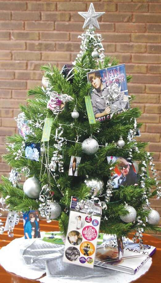 "Submitted photo ""Bieber Fever,"" one of 60 unique, beautifully decorated holiday trees now on display in the lobby of Masonicare Health Center in Wallingford. Stop by and put a bid in on your favorite now through Dec. 21."