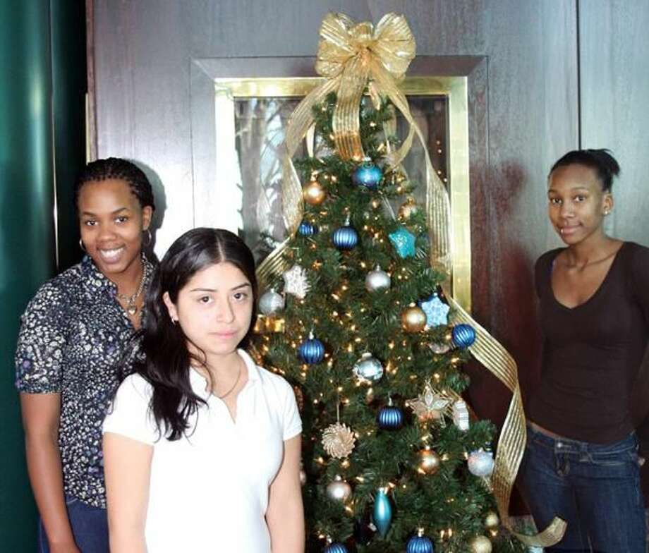Submitted Photo Pictured left to right are students Samantha Hanna, senior; Selina Perez, junior; and Joshonda Stewart, senior.