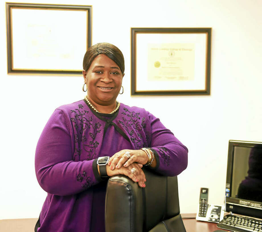 Joyce Bellamy, CEO and CFO of Best Choice Health Care of Hamden in her office.
