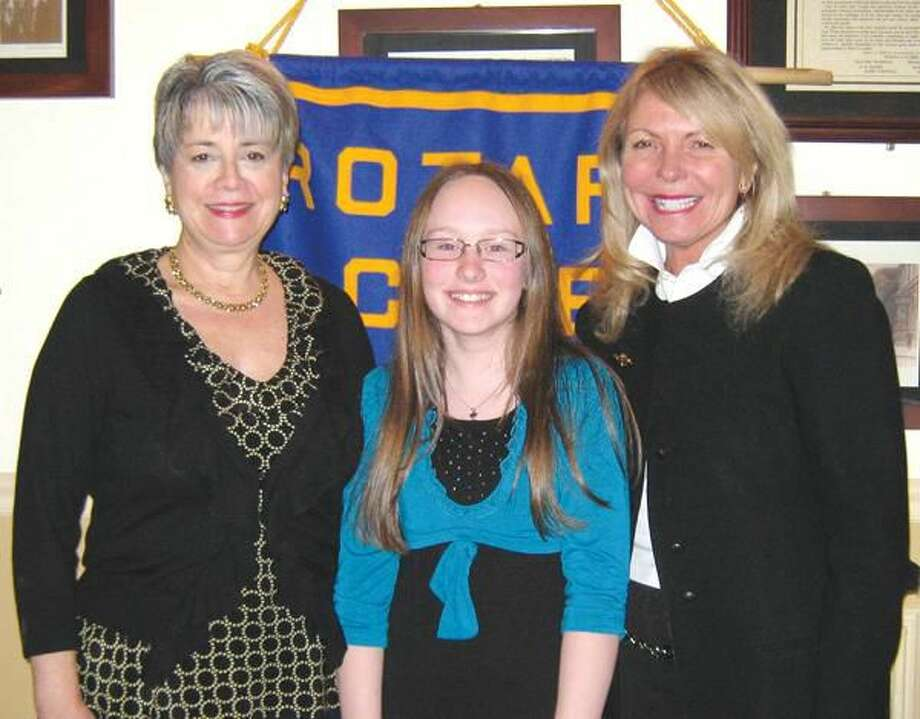 Submitted Photo Student of the Month Jordan Earl is shown here with her teacher, Linda Livolsi (at left), and principal Barbara Nana.