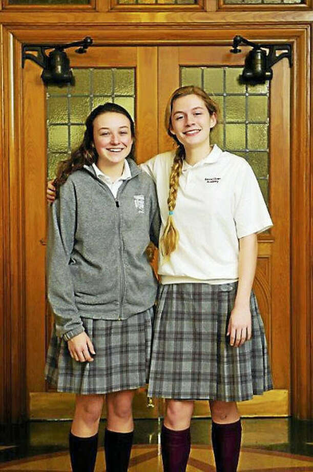 Cronin Photography of Branford, Cheryl Cronin '84. Sacred Heart Academy Hugh O'Brian Youth Leadership Selections, Claire Lagarde '19 of Milford, left, and Mary Sara Olson '19 of North Haven.