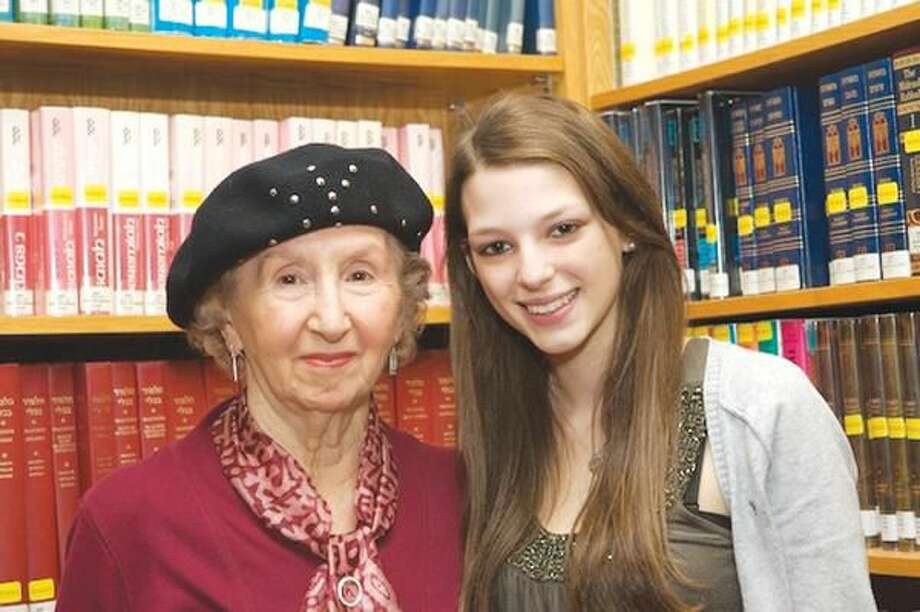 "Submitted Photo North Haven High School junior Dana Lefland, right, and Esther Schwartzman, a Holocaust survivor living in New Haven, are participants in the national ""Adopt-A-Survivor"" program."