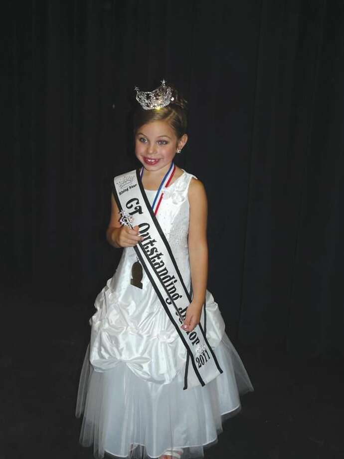 Submitted Photo Gia Frances Iwanec is crowned Connecticut's Outstanding Junior 2011.