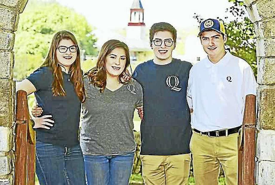 Peter Hvizdak — New Haven Register From left, quadruplets Anna, Sofia, Vincent and Michael Ciacciarella of Naugatuck will be heading to Quinnipiac University in fall.