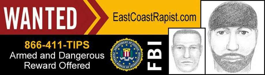 This is the billboard image released by the FBI. It contains a composite sketch of the suspect known as the 'East Coast rapist'