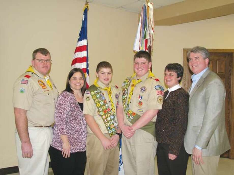 Submitted Photo Pictured are Chris and Jackie Faherty, Christopher Faherty Jr., Joseph Humes, Linda and Stephen Humes.
