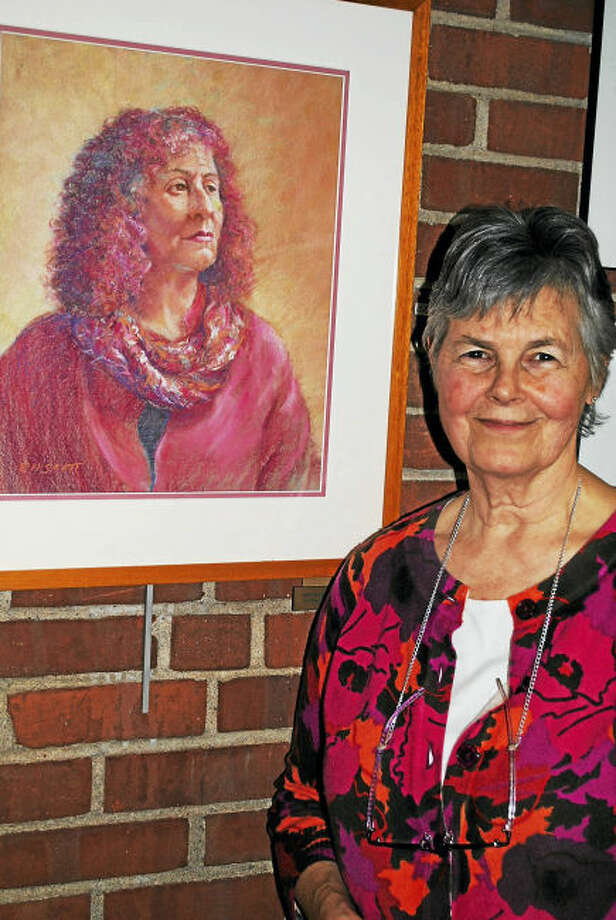 Contributed photo. The Whitney Center Best in Show Award in the The Hamden Art League's Goldenbells Art Exhibition and Sale was awarded to Liz Hundt Scott for her winning pastel, Jyll in Red.