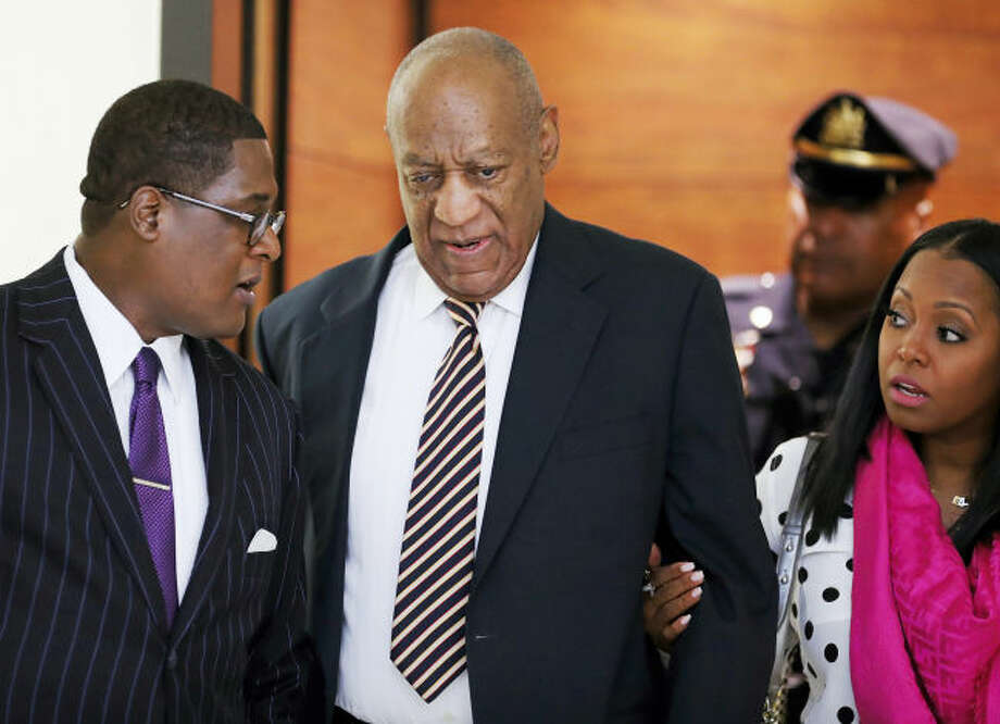 Bill Cosby arrives for his sexual assault trial with Keshia Knight Pulliam, right, at the Montgomery County Courthouse in Norristown, Pa., Monday, June 5, 2017. (David Maialetti/The Philadelphia Inquirer via AP, Pool)