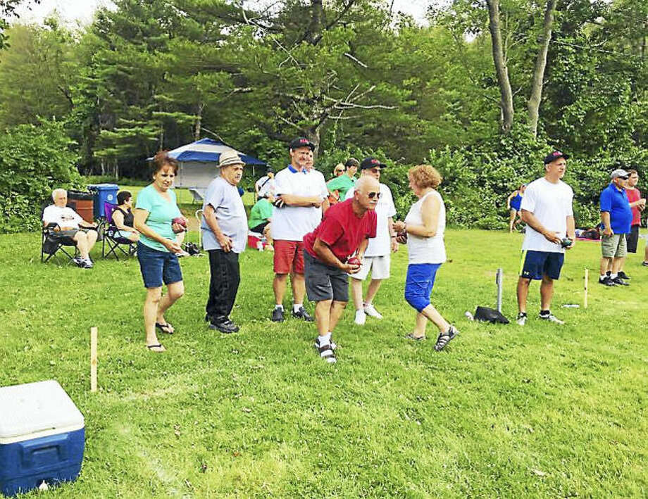 Contributed photo. Bocce players compete in the tournament.