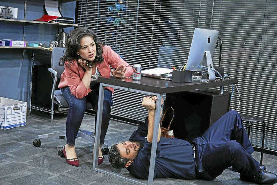 "Contributed photo. Elizabeth Ramos and Eddie Martinez in ""Fade."""