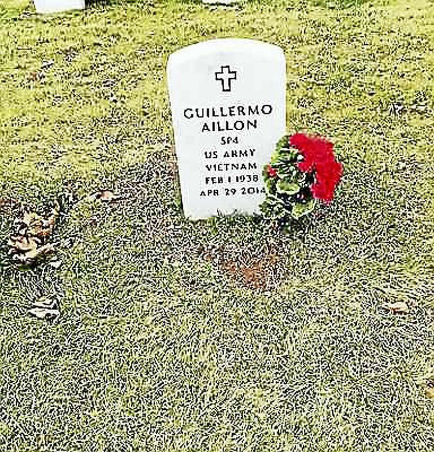 JENNIFER KAYLIN / FILE PHOTO FOR THE REGISTER. The gravestone of Guillermo Aillon, formerly at the State Veterans Cemetery.