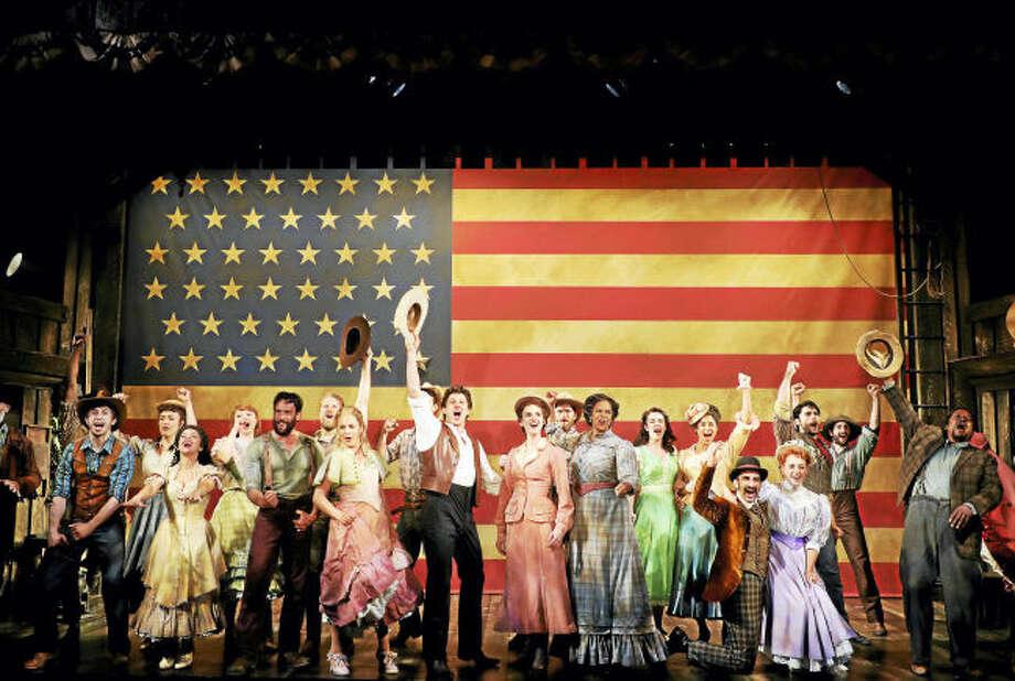 © Photo by Diane Sobolewski. The cast of 'Oklahoma!'