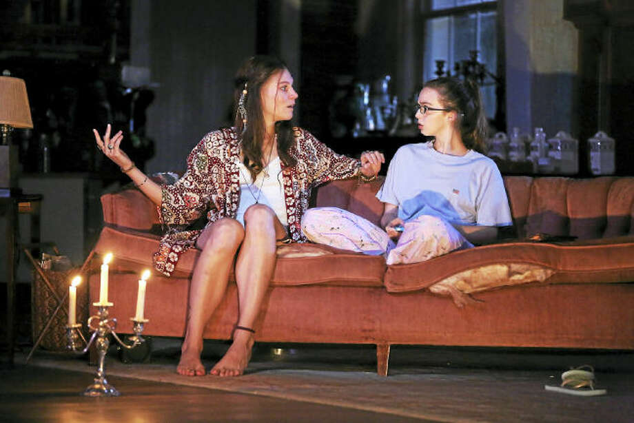 "Photo by Carol Roegg.  Anna Crivelli and Allison Winn in Branden Jacobs-Jenkins' ""Appropriate,"" directed by David Kennedy, at Westport Country Playhouse, now playing through Sept. 2."