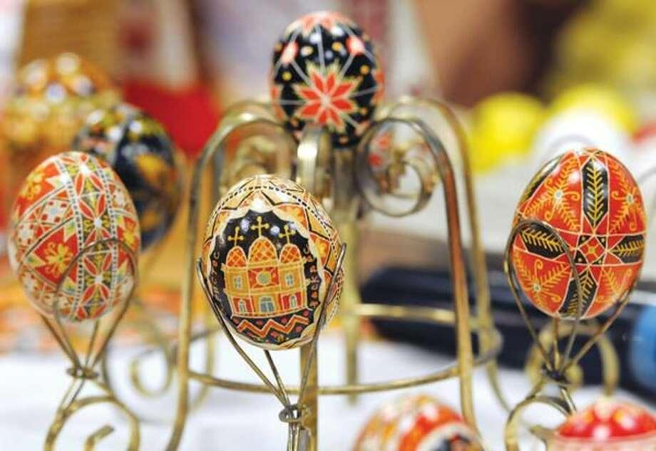 Photo by Mara Lavitt Some of Gloria Paproski Horbaty's Ukranian Easter eggs.