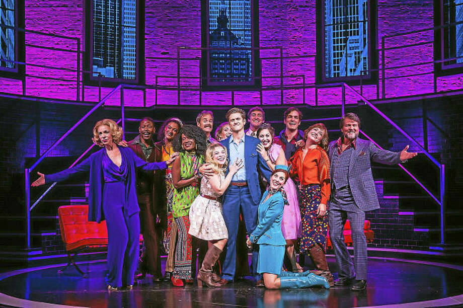 Photo by Daniel Rader. Aaron Tveit and the Cast of COMPANY.