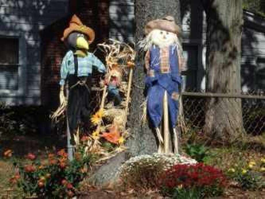Scarecrow and Farmer at Todds Pond.
