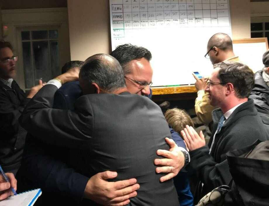 Hamden Mayor Curt B. Leng was re-elected to a second term in landslide election.