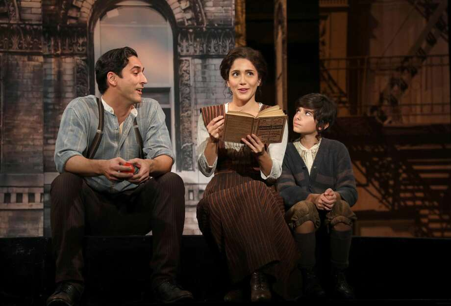 """Sean MacLaughlin (Sal), Samantha Massell (Rebecca) and Christian Michael Camporin (David) in Goodspeed Musicals """"Rags,"""" now playing at The Goodspeed through Dec.10."""