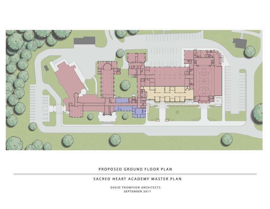 The proposed ground floor plan at Sacred Heart Academy