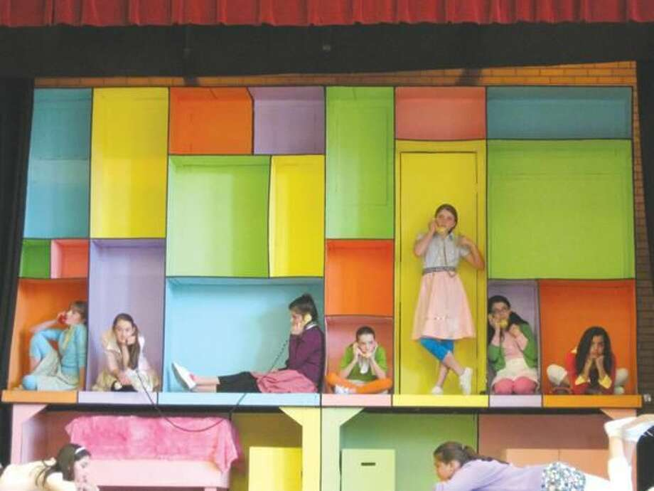 """Submitted Photo St. Rita Middle School students rehearse for their upcoming performance of """"Bye Bye Birdie."""""""