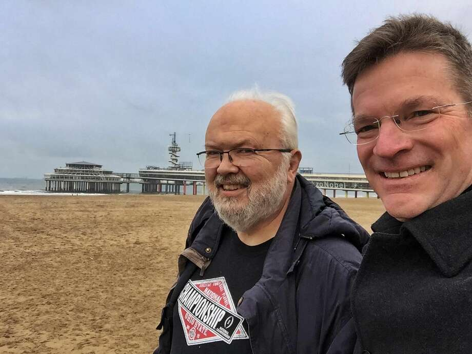 David Ives and Sean Duffy on a recent trip to The Hauge, Netherlands for the awarding of The International Children's Peace Prize in December.