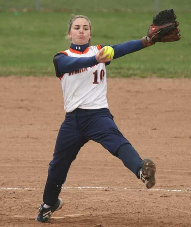 File photo by Russ McCreven Lyman Hall pitcher Lauren Zambrano will throw from 43 feet as part of a new rule this spring. The distance is 3 feet longer this season.