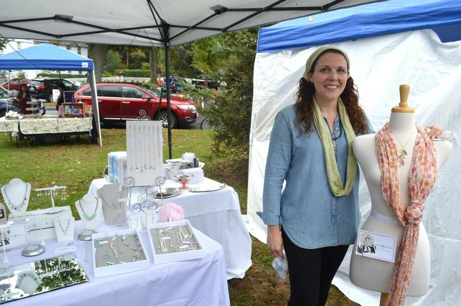 Carrie Whelan at a recent craft show in Fairfield.