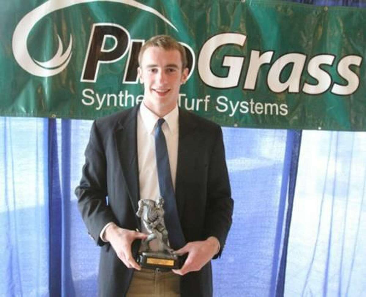 Submitted photo Hamden's Jim Burt was named the Division I MVP by the CHSCA.