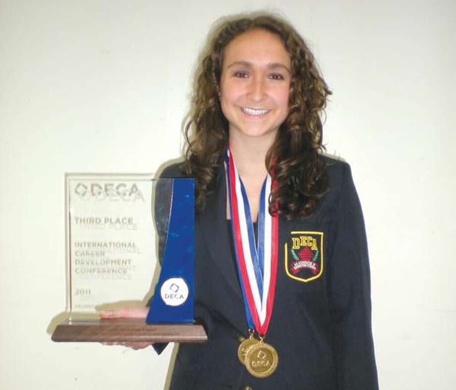 Submitted Photo Elizabeth Barnett placed third at the 2011 International DECA Career Development Conference in Orlando, Fla., in the Creative Marketing Event for her project on the Hamden Farmer's Market.