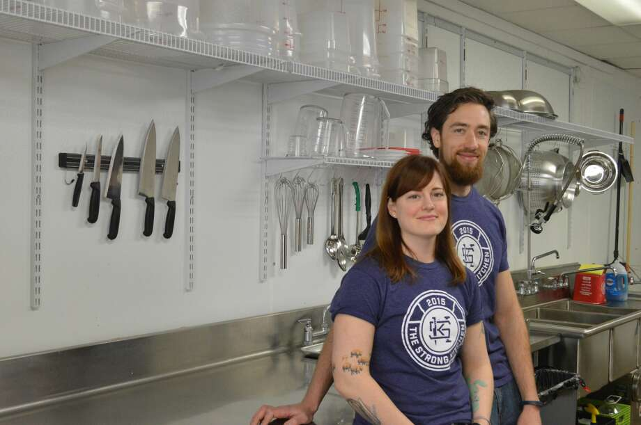 Lucas Serwinski andGabriel Morris, husband and wife, operate the meal preparation and delivery service, The Strong Kitchen, in Hamden that focuses on cooking healthy whole foods.